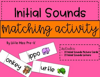 Initial Sounds Matching Activity