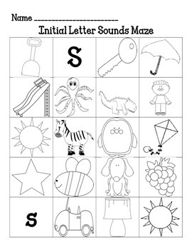 Initial Sounds Mazes