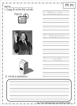Initial sounds practice activities & kindergarten beginning sounds worksheets