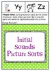Initial Sounds Phonemic Picture Sorts for Emergent Readers
