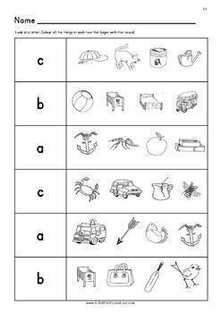Initial Sounds Phonic Worksheets for Reception/Pre-K and Special Needs