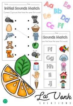 Initial Sounds - Phonics Matching