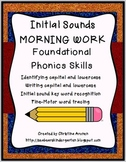 Initial Sounds Phonics Morning Work Packet
