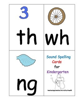Consonant Sounds Picture Cards: Includes ng, qu, sh, ch, th, wh  31 cards