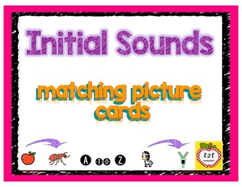Initial Sounds Picture Match Cards