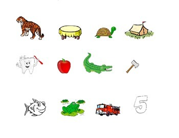 Initial Sounds Picture Sort