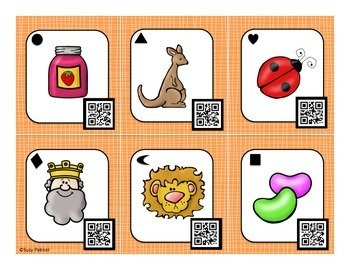 Initial Sounds Picture Task Cards (with QR Codes)