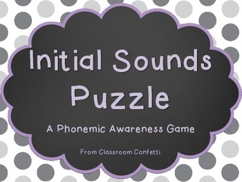 Initial Sounds Puzzle