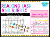 Initial Sounds Reading Portfolio Task & Rubric - ALL AUS STATE FONTS
