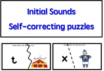 Initial Sounds Self-Correcting Puzzles