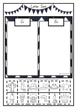 Initial Sounds Sorts – Cut and Paste Sheets