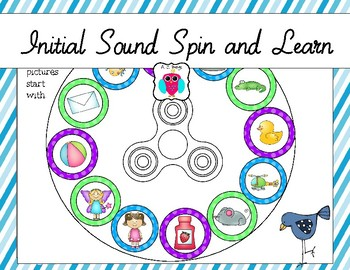 Initial Sounds Spin and Learn
