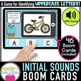 Initial Sounds - UPPERCASE | Boom Cards™ - Distance Learning