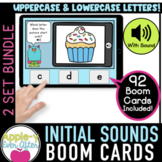 Initial Sounds - Uppercase & Lowercase Letters | Boom Card