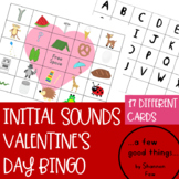 Initial Sounds Valentines Day Bingo