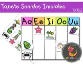 Initial Sounds Vowel Sorting Mat in SPANISH