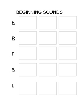 Initial Sounds and Matching Pictures