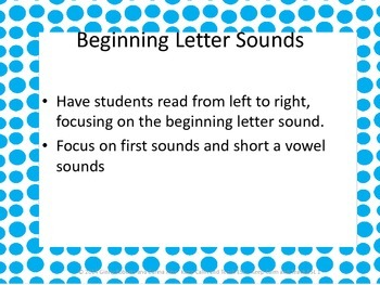Initial Sounds and Short Vowel Sound Practice