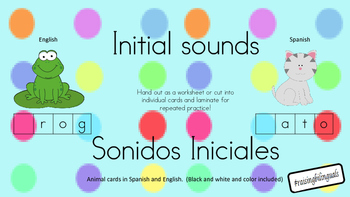 Initial Sounds (animals) Sonido Inicial (animales)