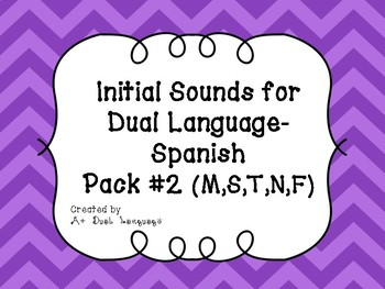 Initial Sounds for Dual Language- Spanish Pack#2
