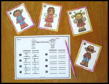 Beginning Sounds Kids in Costumes
