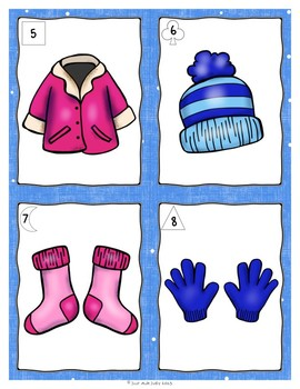 Beginning Sounds with Winter Clothing Freebie