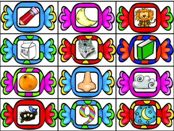 Initial Syllables Game in Spanish- Candy Theme