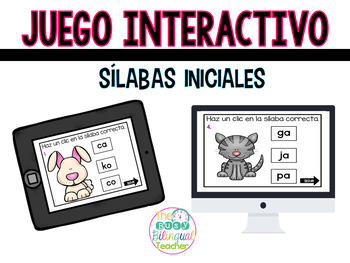 Initial Syllables Interactive Game in Spanish