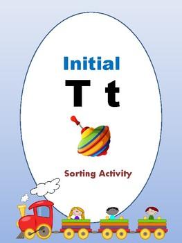 Initial T - Sorting Activity - File Folder Game