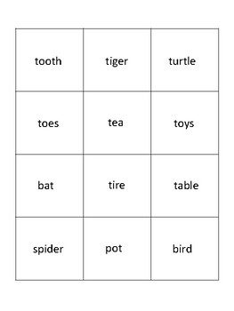 Initial T - Sorting Activity - File Folder Game