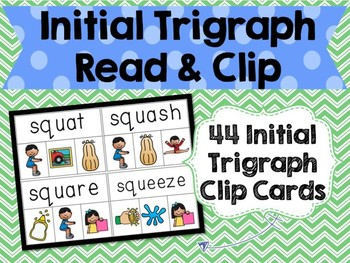 Initial Trigraphs Read & Clip Cards