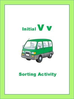 Initial V - Sorting Activity - File Folder Game