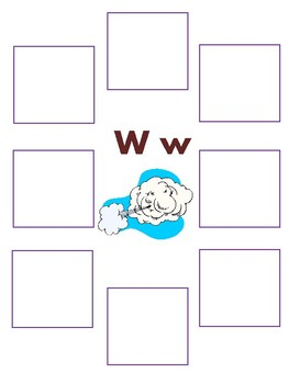 Initial W - Sorting Activity - File Folder Game