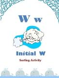 Initial W - Sorting Activity - File Folder Game