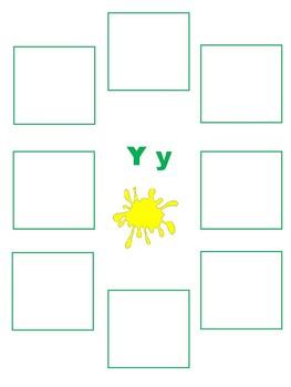 Initial Y - Sorting Activity - File Folder Game