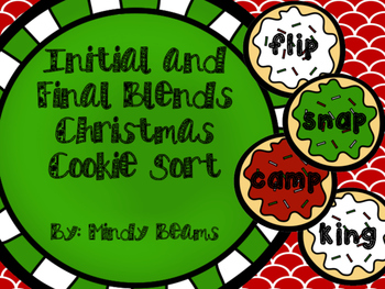 Initial and Final Blend Christmas Cookie Sort