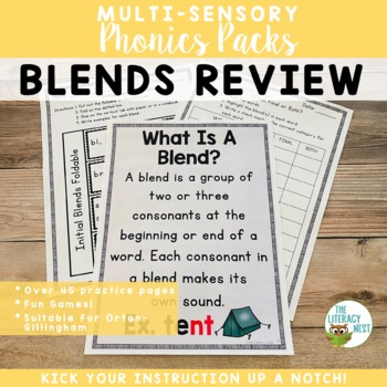 Initial and Final Blends REVIEW Multisensory Phonics Orton