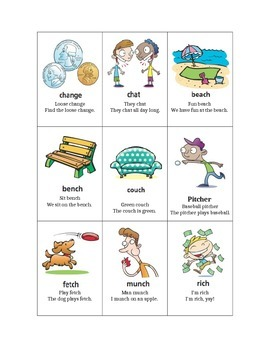 """Initial and Final """"CH"""" Hierarchy- Articulation Cards"""