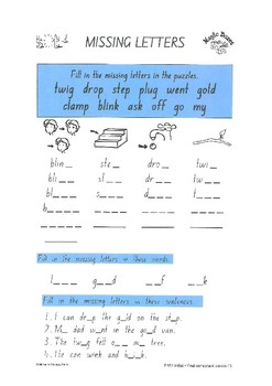 Initial and Final Consonant Blends
