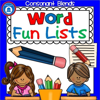 Consonant Blends - Word Fun Lists for Second Grade