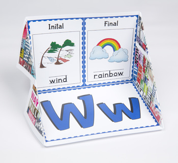 Initial and Final Consonant Display Case: W