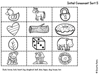 Initial and Final Consonant Picture Sorts