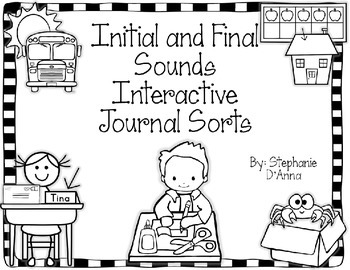 Initial and Final Sound Sorts Interactive Journals