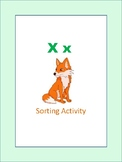 Initial and Final X - Sorting Activity - File Folder Game