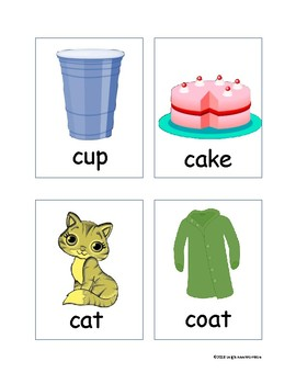 Initial and Final /k/ Sound for Articulation and Early Reading