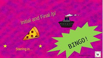 Initial and Final /p/ Bingo