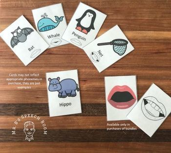 Initial /b/ Articulation Card Set with Visual Cues