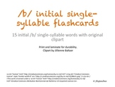 Initial /b/ single-syllable Flashcards