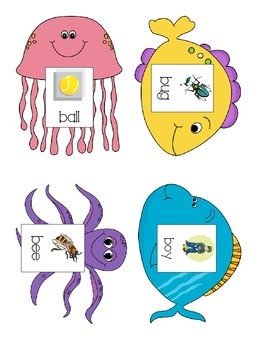 Speech Therapy: Initial /b/ words fishing game
