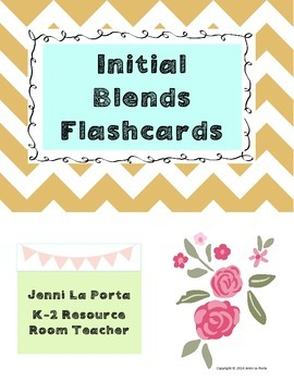 Initial blends flashcards